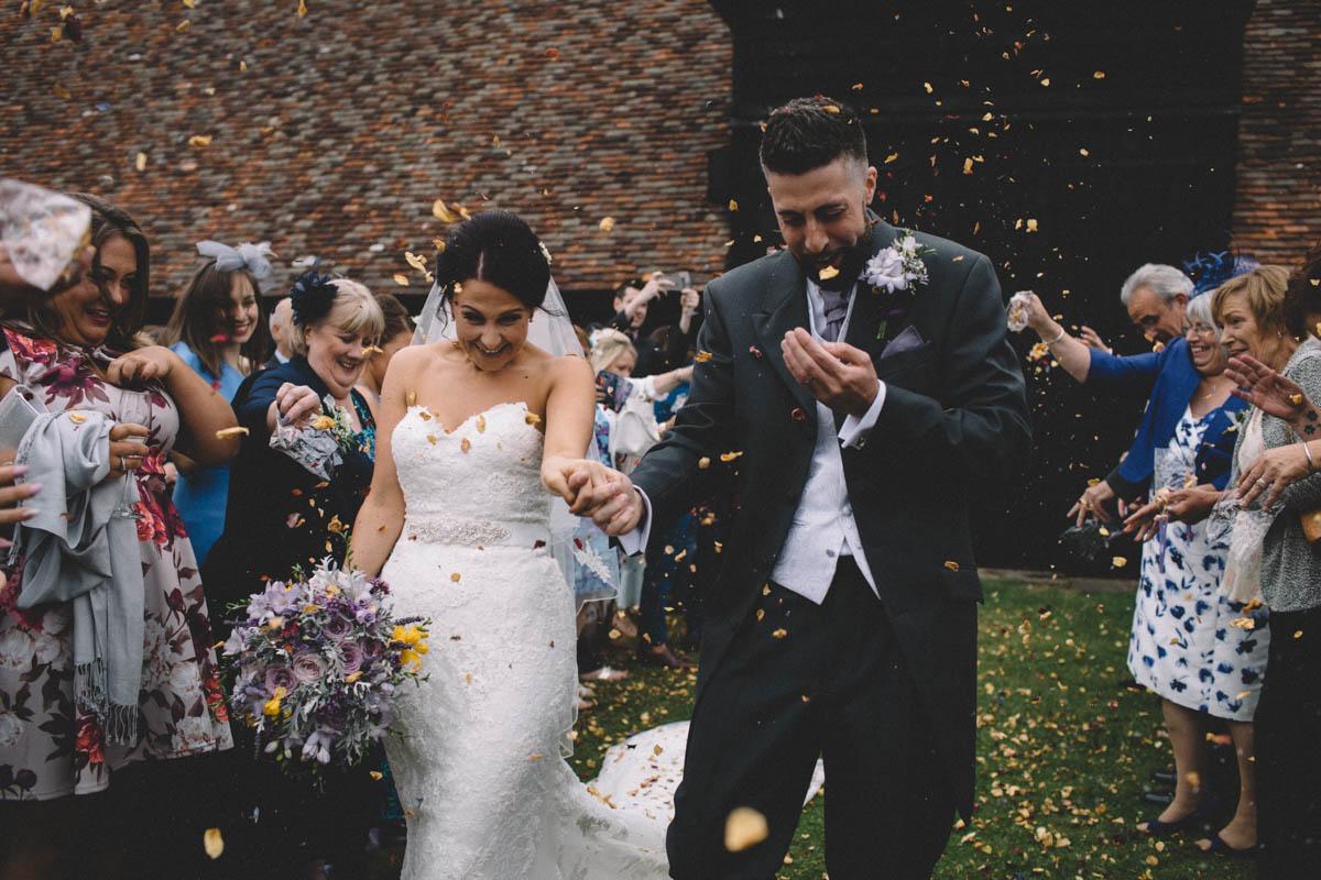 confetti shot carrie lavers photography hampshire wedding photographer