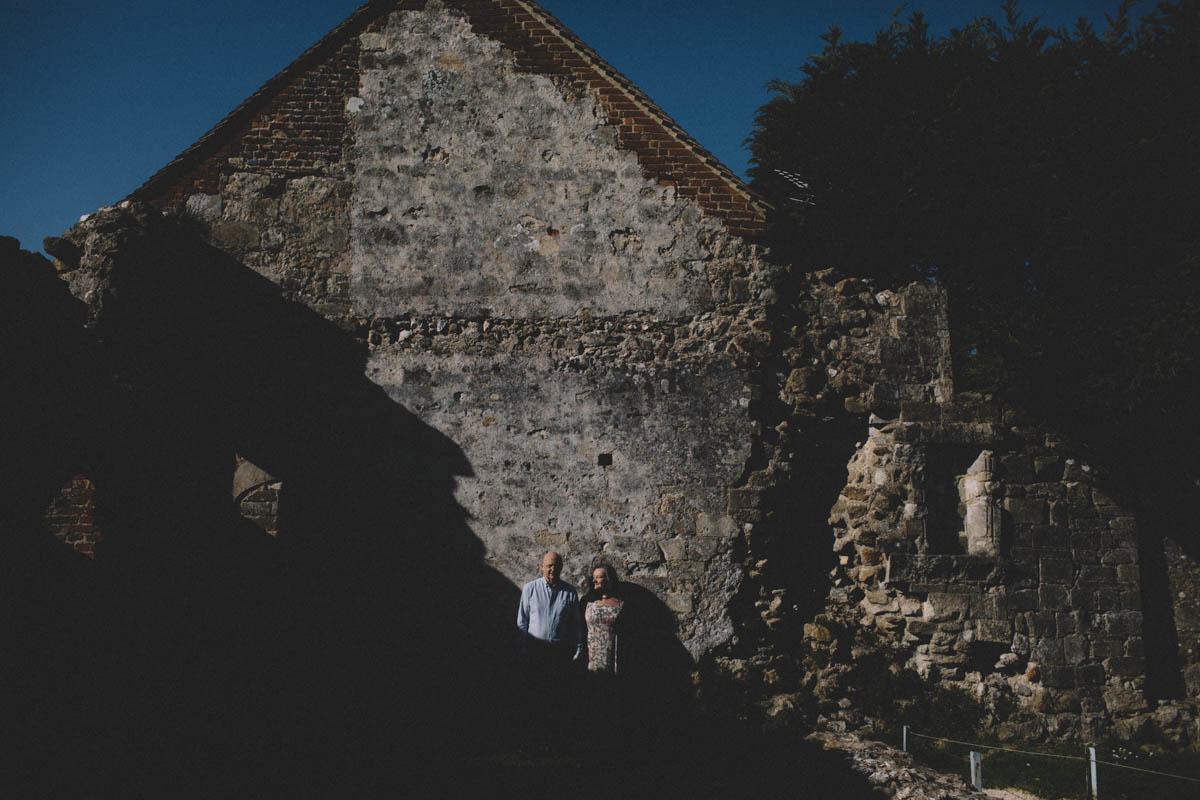 Titchfield abbey engagement shoot
